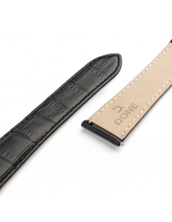 Bracelet NATO noir sur boucle acier