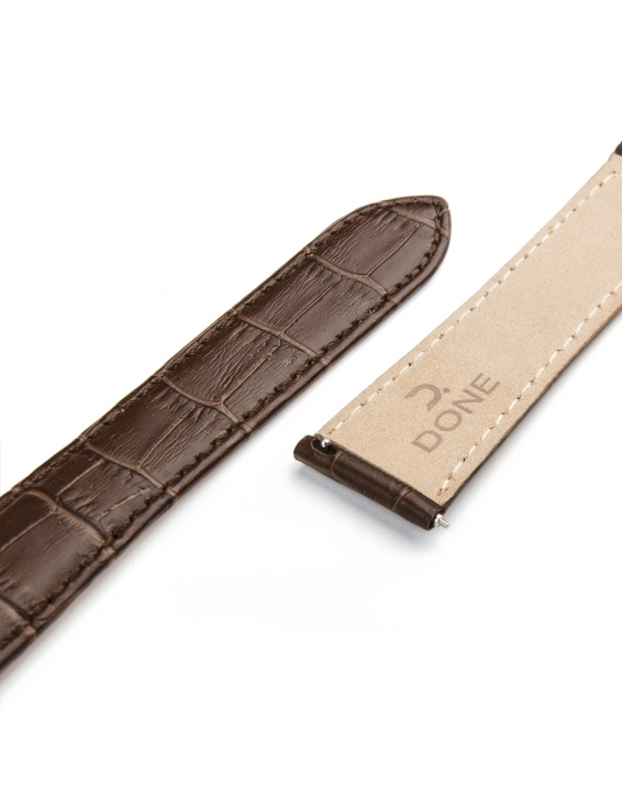 Leather Strap 22/18mm - Brown